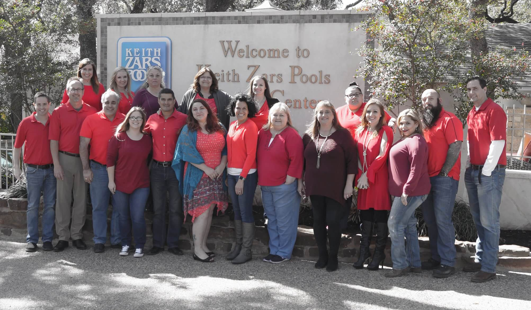 Keith Zars Pools Goes Red for Heart Health